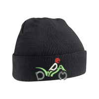 Original Cuffed Beanie embroidered with DWDAM design. Thumbnail